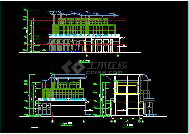 某市会所建筑CAD设计施工平面图纸-图2
