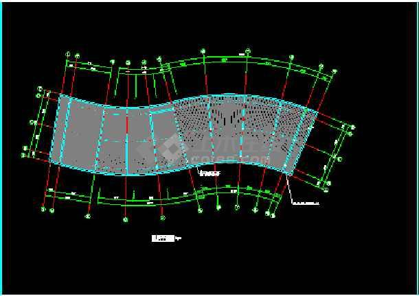 某市会所建筑CAD设计施工平面图纸-图3