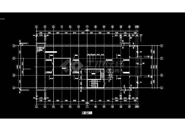 某酒店建施方案设计全套CAD图纸-图1