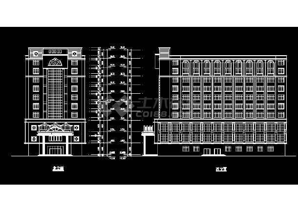 某酒店建施方案设计全套CAD图纸-图3
