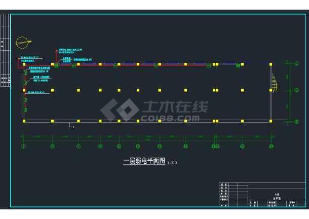 某商业区商住楼强弱电全套CAD设计图纸-图2