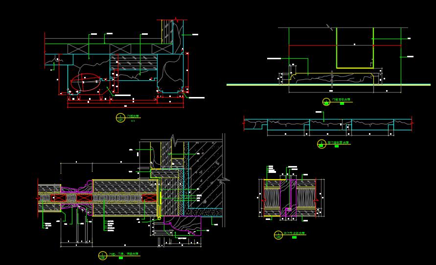 某地高级别墅设计入户门CAD详图图片2