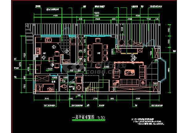 点击查看某市住宅楼全套装修CAD设计施工图第2张大图