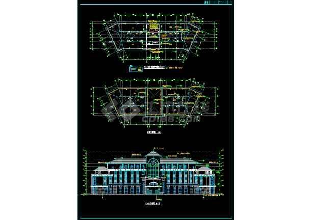 宾馆方案全套规划CAD设计详细图纸-图1