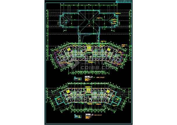 宾馆方案全套规划CAD设计详细图纸-图2