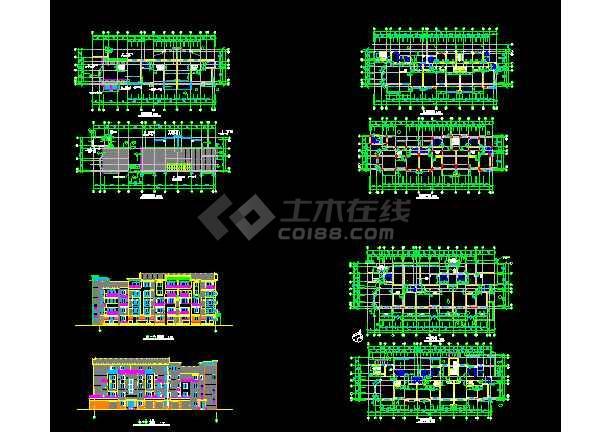 点击查看江苏某地多层住宅楼建筑CAD设计方案图第1张大图
