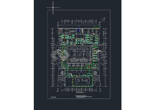 广东省内某体育馆暖通空调设计图-图1