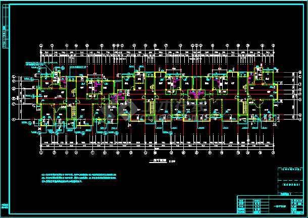 某多层住宅建筑设计CAD全套施工图-图3