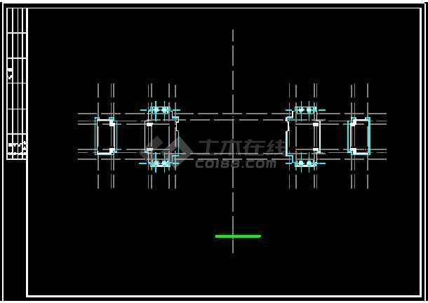 某小区大门建筑设计CAD方案施工图-图3