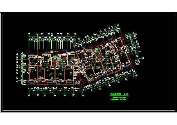 无锡某小区多层住宅建筑设计CAD方案图-图2