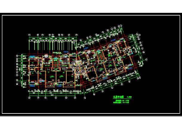 无锡某小区多层住宅建筑设计CAD方案图-图3