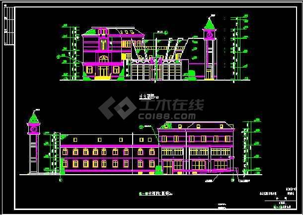 会所全套建筑设计施工CAD方案图-图1