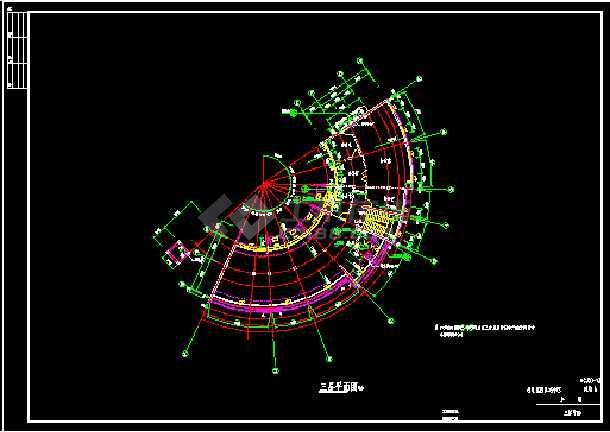 会所全套建筑设计施工CAD方案图-图2