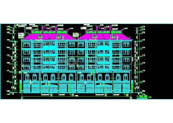 某6层砖混结构商住楼CAD建筑设计图纸-图1
