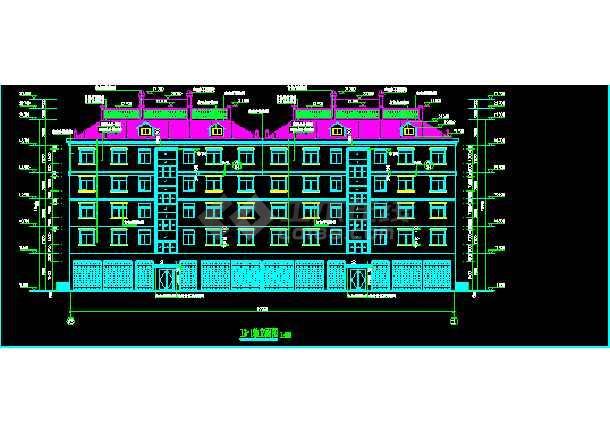 某6层砖混结构商住楼CAD建筑设计图纸-图3