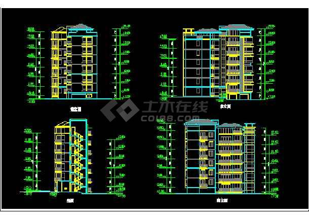 大川水岸住宅楼建筑施工设计CAD扩初图-图1