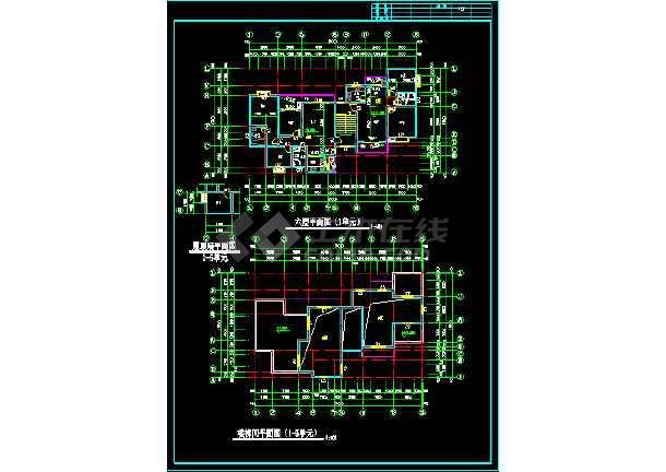 大川水岸住宅楼建筑施工设计CAD扩初图-图2