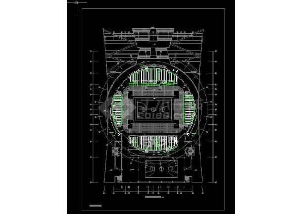 某体育馆暖通空调设计图-图1