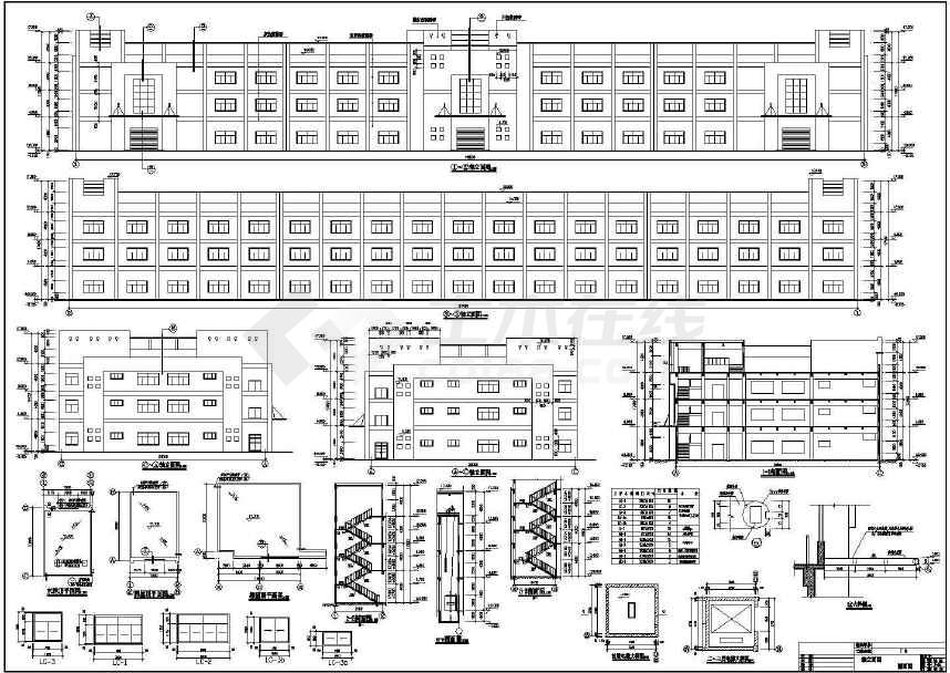 某地厂房宿舍楼建筑结构施工图设计-图1