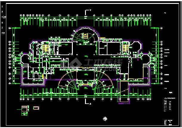 会所设计施工CAD建筑方案全套图-图3