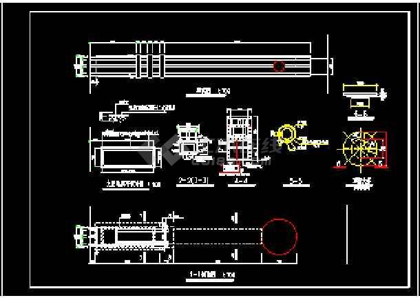江畔明珠小区大门建筑设计CAD方案图-图2