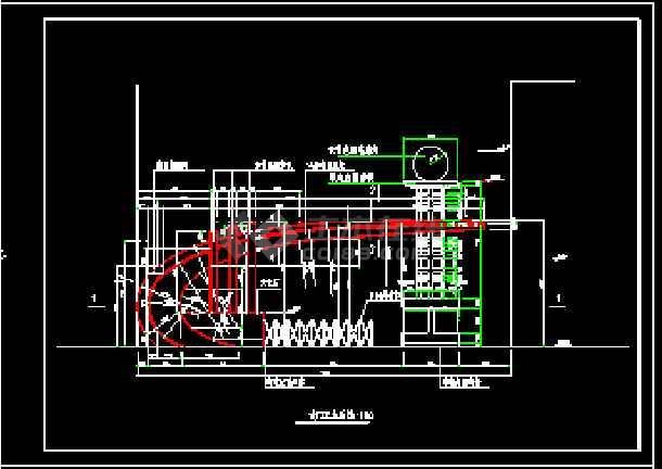 江畔明珠小区大门建筑设计CAD方案图-图3