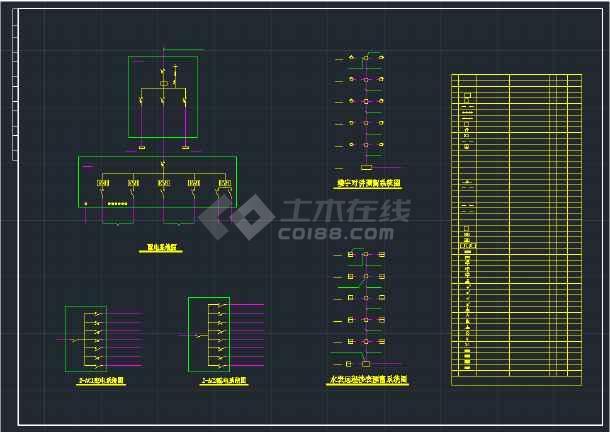 某地住宅楼CAD全套电气平面施工图纸-图1