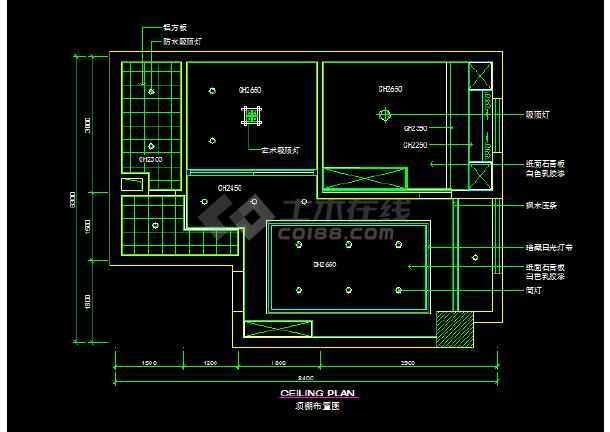 家装室内设计平面装修CAD施工图-图2