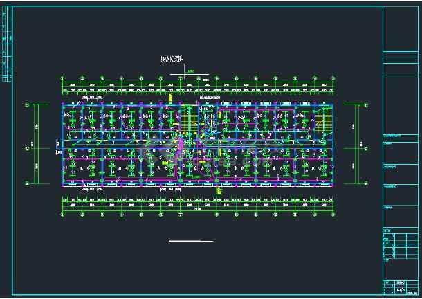 某社区综合楼强弱电CAD全套施工图纸-图2