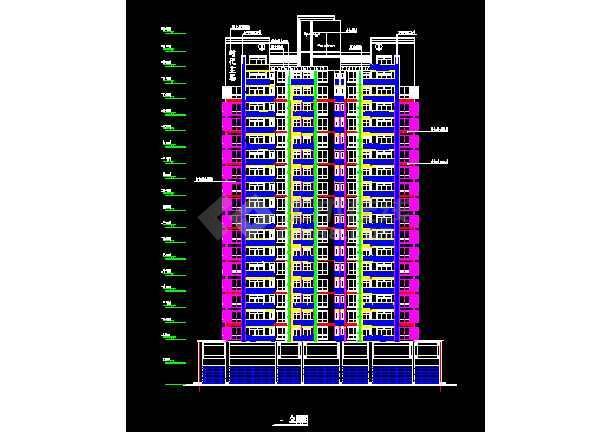 某高层商务住宅楼方案CAD建筑设计施工图-图2