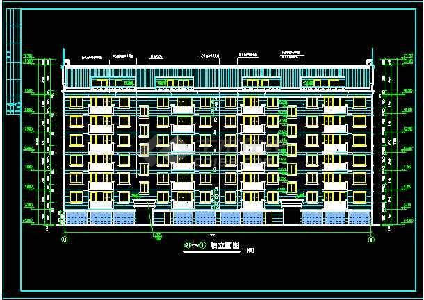 点击查看多层住宅建筑设计施工CAD平立剖图第2张大图