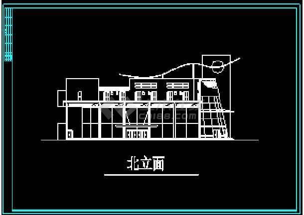 很现代的会所建筑设计CAD方案施工图-图1