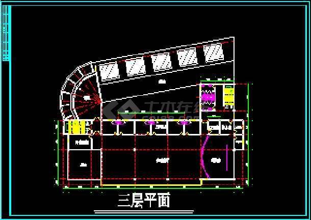 很现代的会所建筑设计CAD方案施工图-图3