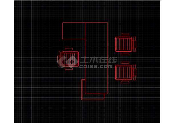 室内常用的办公家具平面CAD素材图块-图1