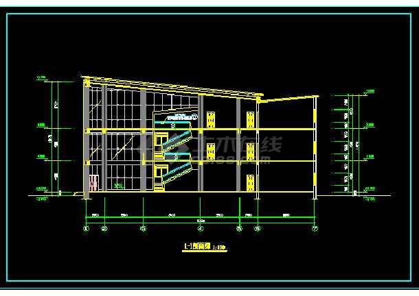 高级小区会所建筑设计CAD方案全套图-图2
