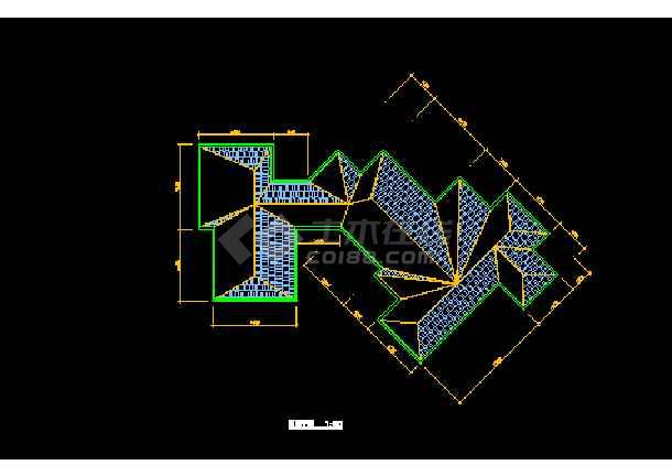某市会馆建筑CAD施工设计平面图-图1