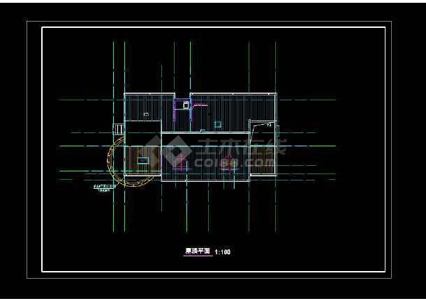 武昌江边某豪宅cad设计施工图纸-图1