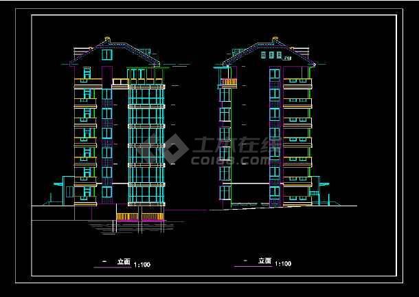 武昌江边某豪宅cad设计施工图纸-图2