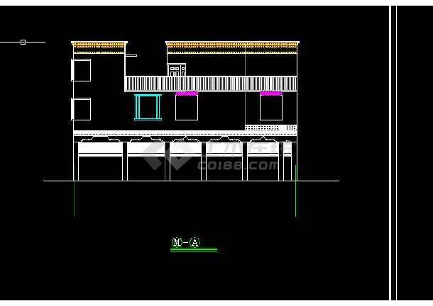 藏式居住建筑设计方案及施工全套CAD图纸-图二