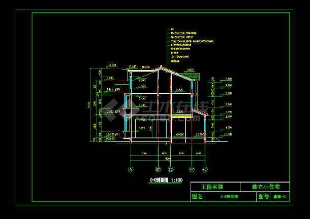 某市完整豪华欧式别墅施工图CAD图纸-图2