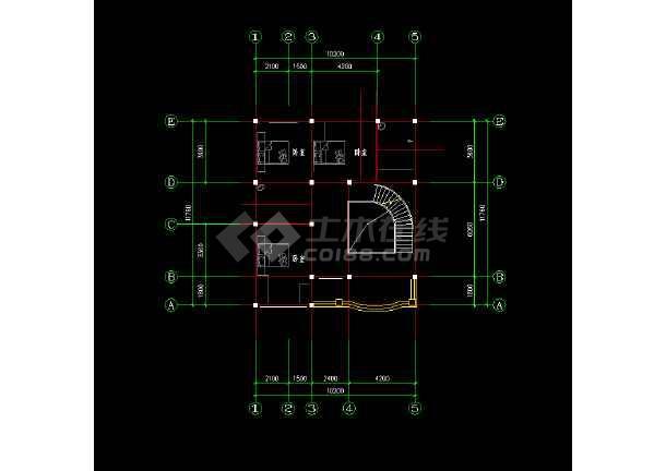 欧式别墅建筑图纸cad设计施工图-图2