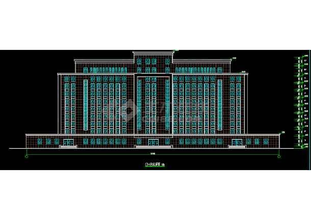 十层框剪结构高层办公楼建筑设计图-图1