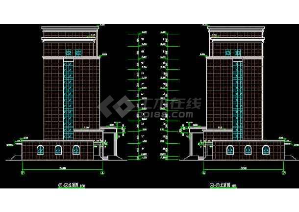 十层框剪结构高层办公楼建筑设计图-图2