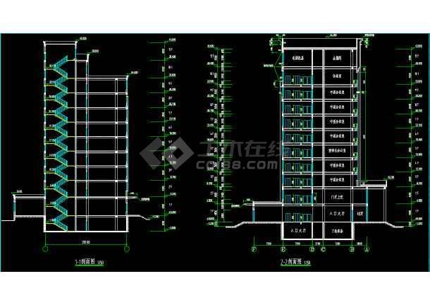 十层框剪结构高层办公楼建筑设计图-图3