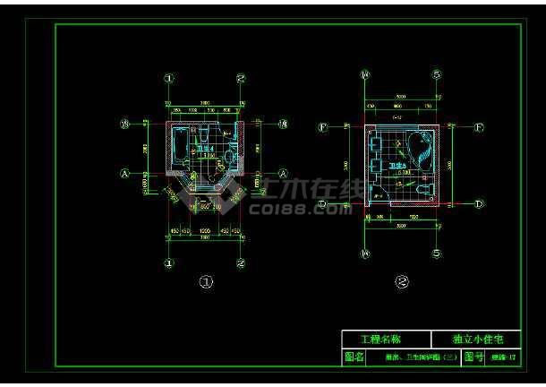 某地完整豪华欧式别墅施工图CAD图纸-图2