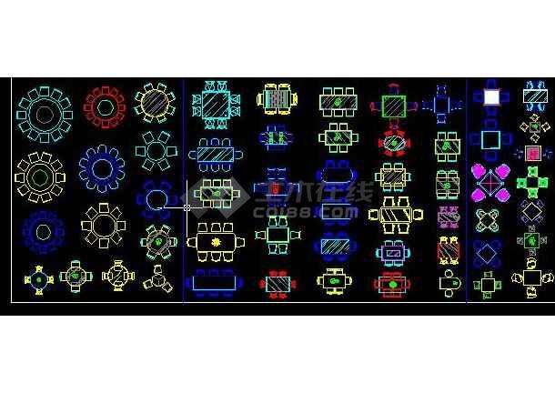 各种各样的CAD平面图库-图2