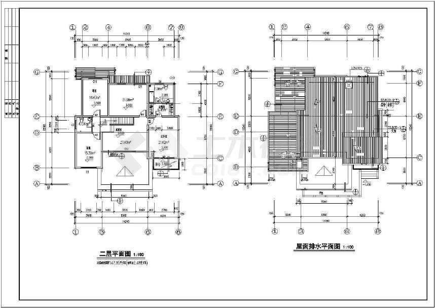 3套经典别墅施工建筑图(可预览)-图3
