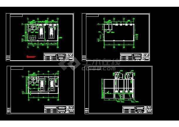 点击查看两台1600KW发电机环保安装工程全套CAD图纸第1张大图