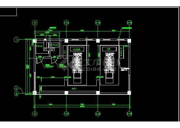 两台1600KW发电机环保安装工程全套CAD图纸-图2