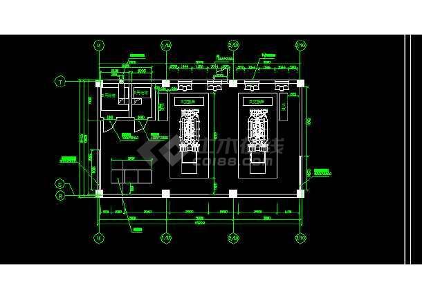 两台1600KW发电机环保安装工程全套CAD图纸-图3